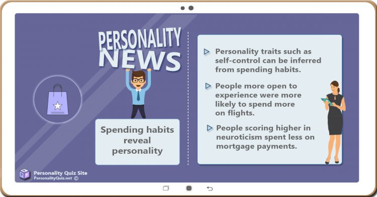 Spending habits reveal personality